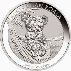 2015 1 oz Australian Koala Silver Coin