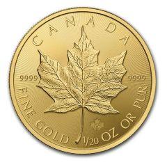 2015 Canadian Gold Maple Leaf - .9999 Fine Gold - 1/20th oz