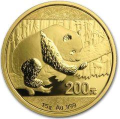 2016 15 Gram Chinese Gold Panda Coin BU