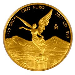 2017 Mexican Gold Libertad Proof Coin 1/10 oz