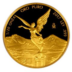 2017 Mexican Gold Libertad Proof Coin 1/20 oz