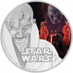 2017 Star Wars The Last Jedi Supreme Emperor Snoke 1 oz Silver Proof Coin