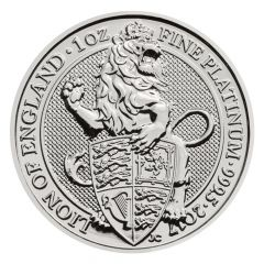 2017 1 oz Queen's Beast Lion Platinum Coin
