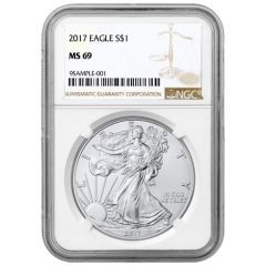 2017 NGC MS-69 American Silver Eagle Coin (Brown Label)