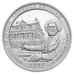 2017 Frederick Douglass ATB 5 oz Silver Coin - America The Beautiful