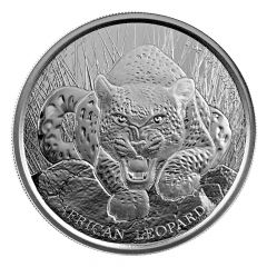 2017 African Ghana Leopard Silver Coin 1 oz
