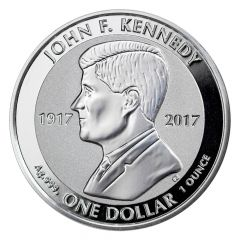 2017 John F. Kennedy 1 oz Reverse Proof Silver Coin