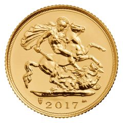 2017 Royal British Mint Gold Sovereign Coin