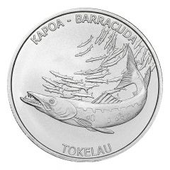 2017 Tokelau 1 oz Hakula Barracuda Silver Coin