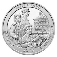 2017 Ellis Island ATB 5 oz Silver Coin - America The Beautiful