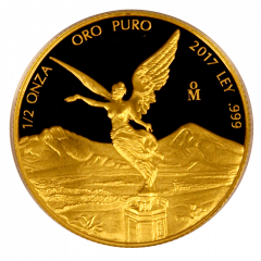 2017 Mexican Gold Libertad Proof Coin 1/2 oz