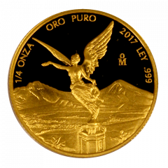 2017 Mexican Gold Libertad Proof Coin 1/4 oz