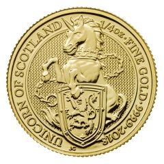 2018 1/4 oz Gold Queen's Beasts Unicorn of Scotland