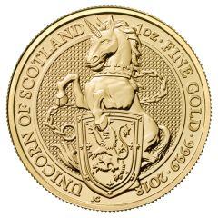 2018 1 oz Gold Queen's Beasts Unicorn of Scotland