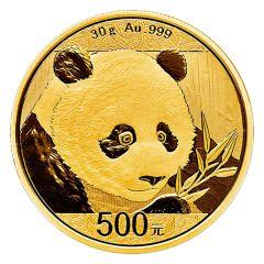 2018 30 Gram Chinese Gold Panda Coin BU