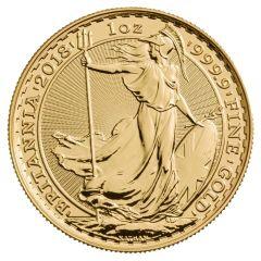 2018 Gold Britannia Coin BU 1 oz