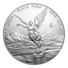 2018 Mexican Libertad Silver Coin 1/4 oz
