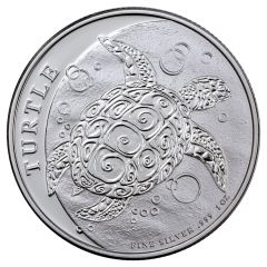 2018 Niue Hawksbill Turtle Silver Coin 1 oz