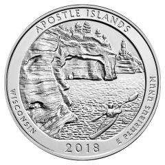 2018 Apostle Islands ATB 5 oz Silver - America The Beautiful