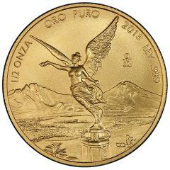 2018 Mexican Gold Libertad Coin 1/2 oz