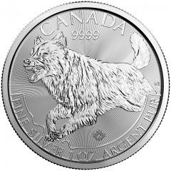 2018 1 oz Silver Wolf Coin - RCM Predator Series Third Release