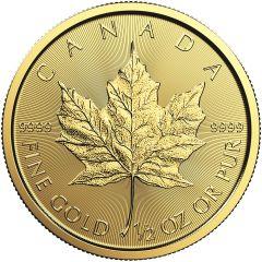2019 1/2 oz Canadian Gold Maple Leaf Coin BU