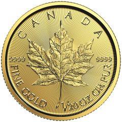 2018 1/20th oz Canadian Gold Maple Leaf BU