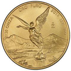 2018 Mexican Gold Libertad Coin 1/20 oz