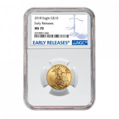 2018 1/4 oz NGC MS-70 Early Releases Gold American Eagle