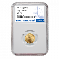 2018 1/10 oz NGC MS-70 Early Releases Gold American Eagle