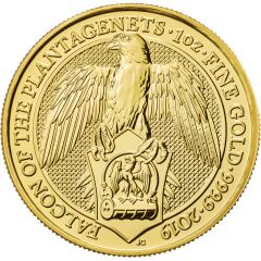 2019 1 oz Queen's Beasts Falcon of the Plantagenets Gold Coin