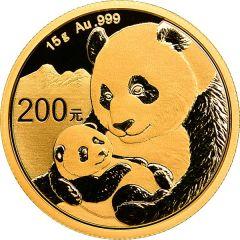 2019 15 Gram Chinese Gold Panda Coin BU
