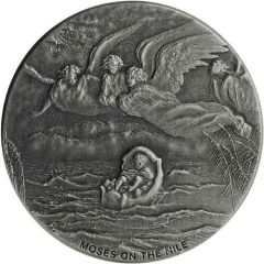2019 2 oz Moses On The Nile Biblical Silver Coin Series