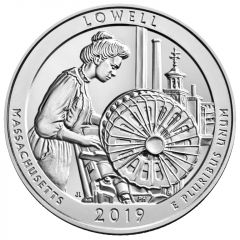2019 Lowell National Park 5 oz Silver Coin - America The Beautiful