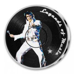 2019 1 oz Elvis Presley Colorized Silver Proof - Legends of Music