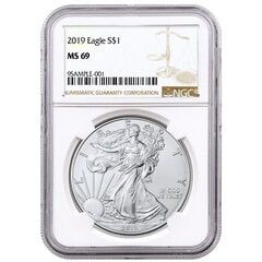 2019 NGC MS-69 American Silver Eagle Coin (Brown Label)