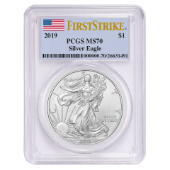2019 PCGS MS-70 First Strike American Silver Eagle