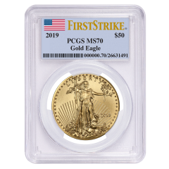 2019 1 oz PCGS MS-70 First Strike Gold American Eagle