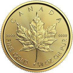2020 1/4 oz Canadian Gold Maple Leaf Coin BU
