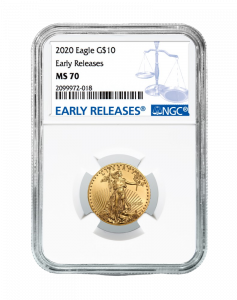2020 1/4 oz NGC MS-70 ER American Gold Eagle Coin