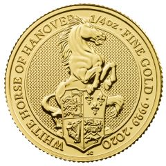 2020 1/4 oz Queen's Beasts White Horse of Hanover Gold Coin