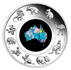 2020 1 oz Australian Great Southern Land Opal Proof Silver Coin
