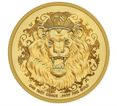 2020 1 oz Roaring Lion Proof Gold Coin