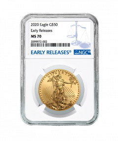 2020 1 oz NGC MS-70 ER American Gold Eagle Coin