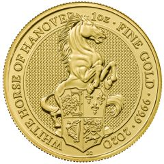 2020 1 oz Queen's Beasts White Horse of Hanover Gold Coin