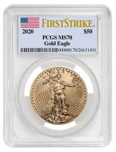2020 1 oz PCGS MS-70 FS American Gold Eagle Coin