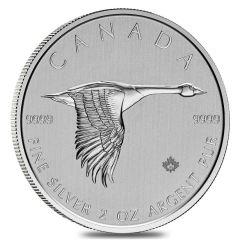 2020 2 oz Canadian Goose Silver Coin