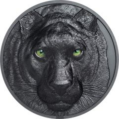 2020 2 oz Hunters By Night Black Panther Silver Coin