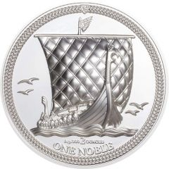 2020 2 oz Isle of Man One Noble Piedfort Proof Silver Coin