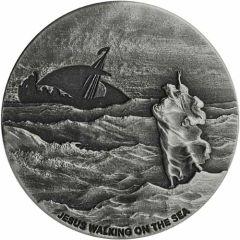 2020 2 oz Jesus Walking on the Sea Biblical Silver Coin Series